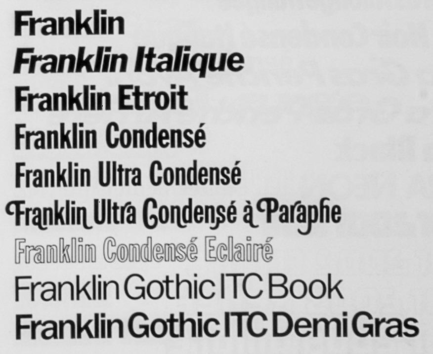 Franklin Gothic | DAYLIGHT FONTS